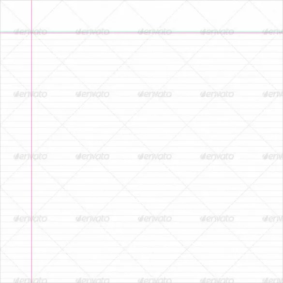 8+ Notebook Paper Templates - Free Sample, Example, Format Download - notepad paper template