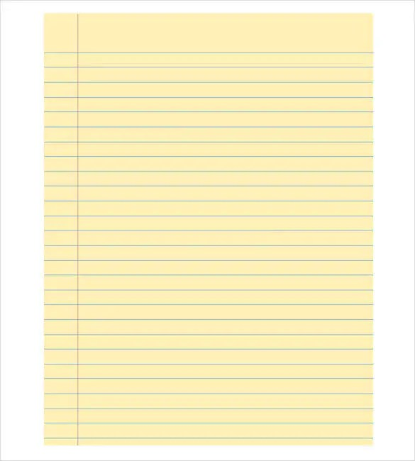 8+ Notebook Paper Templates - Free Sample, Example, Format Download - notebook paper download