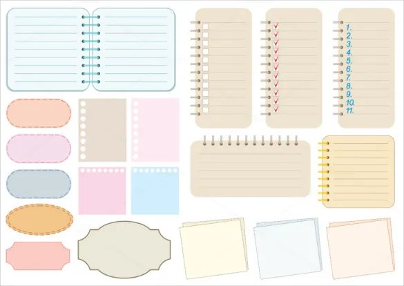 8+ Notebook Paper Templates - Free Sample, Example, Format Download - Notebook Paper Template