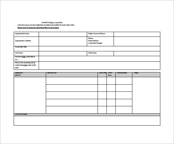9+ Action Plan Templates \u2013 Free Sample, Example, Format Download
