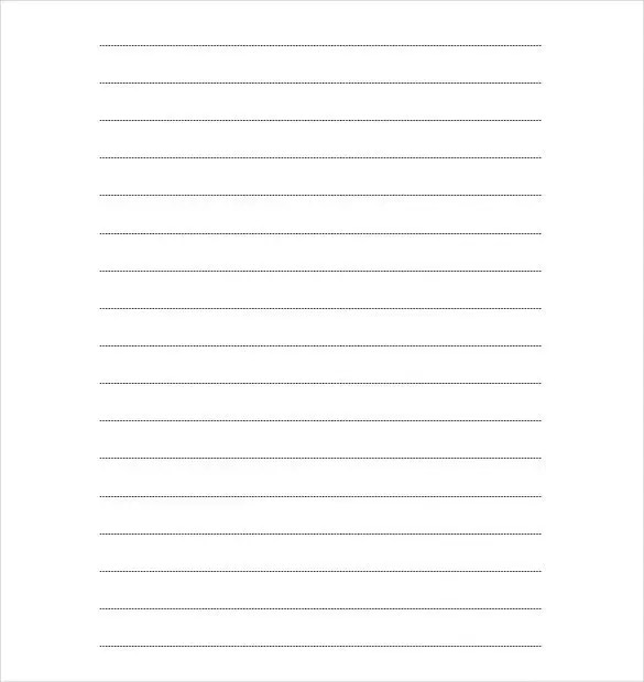 10+ Writing Paper Templates \u2013 Free Sample, Example, Format Download - Free Writing Paper Template