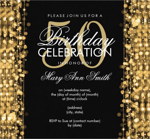 45+ 50th Birthday Invitation Templates u2013 Free Sample, Example - free birthday invitations to print