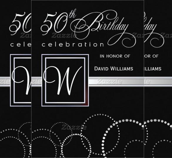 45+ 50th Birthday Invitation Templates \u2013 Free Sample, Example