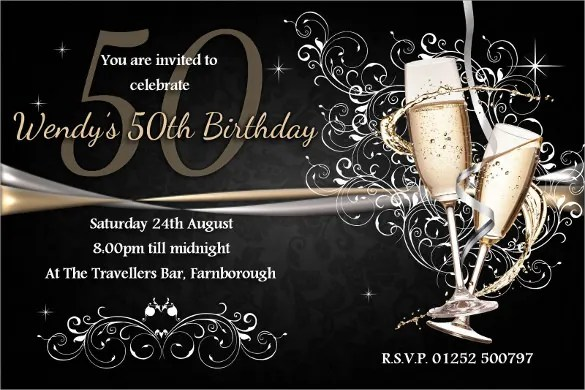 40+ 50th Birthday Invitation Templates u2013 Free Sample, Example - invitations samples for birthday