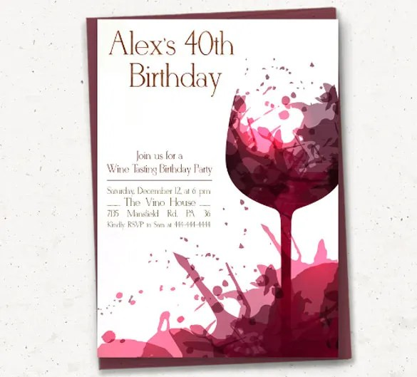 Adult Birthday Invitation Template \u2013 16+ Free PSD, Vector EPS, AI - birthday invitation card templates free download