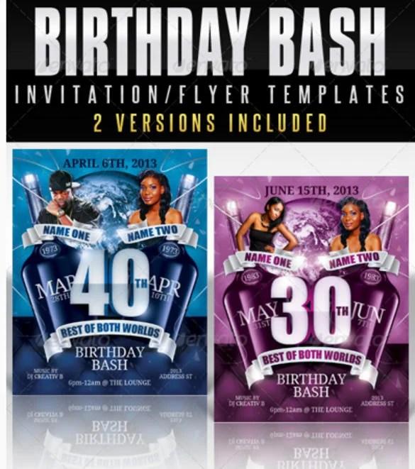 15+ Adult Birthday Invitation Templates - PSD, Vector EPS, AI