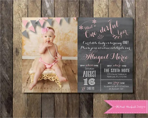 32+ First Birthday Invitation Templates \u2013 Free Sample, Example