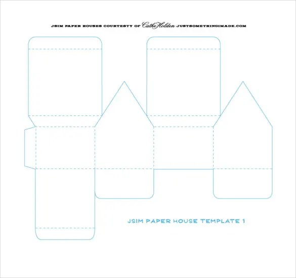 14+ Paper House Templates \u2013 Free Sample, Example, Format Download