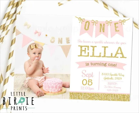 30+ First Birthday Invitation Templates \u2013 Free Sample, Example - free first birthday invitations templates