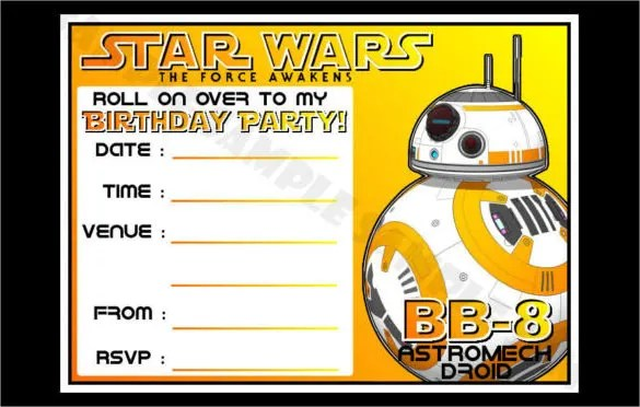Yellow-Coloured-BB-8-Star-Wars-Birthday-Party-Invitationsjpg (585 - free birthday cards templates