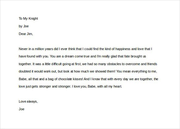 12+ Love Letters for Him \u2013 Free Sample, Example, Format Download - love letter template for him