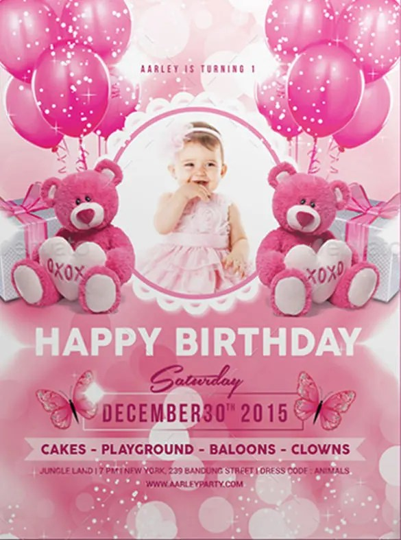 Kids Birthday Invitation Templates \u2013 32+ Free PSD, Vector EPS, AI