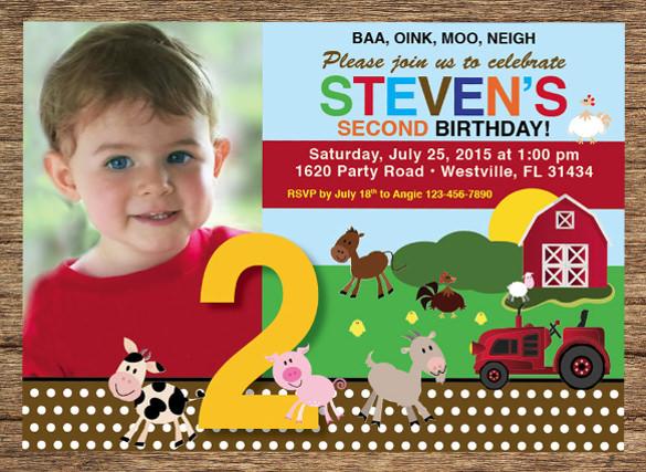 Kids Birthday Invitation Templates \u2013 32+ Free PSD, Vector EPS, AI