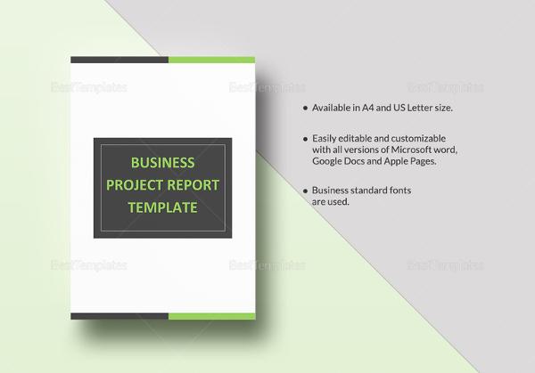 22+ Project Report Templates - PDF, DOC Free  Premium Templates
