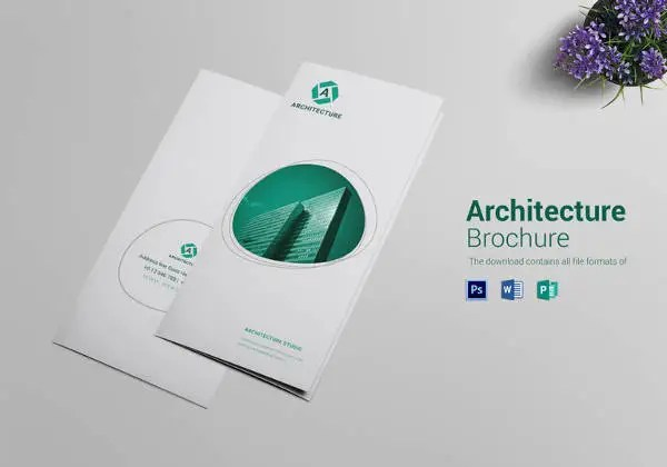 Tri Fold Brochure Templates u2013 47+ Free PSD, AI, Vector EPS Format - architecture brochure template