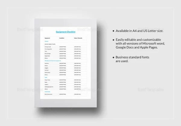 34+ Word Checklist Templates Free  Premium Templates