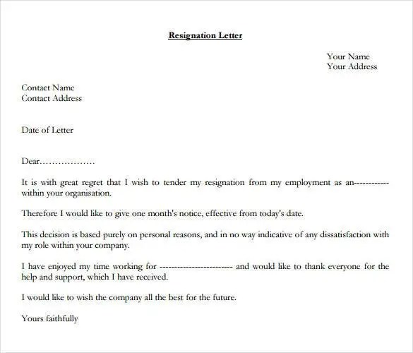 How to Write a Professional Resignation Letter Free \ Premium - resignation letters no notice