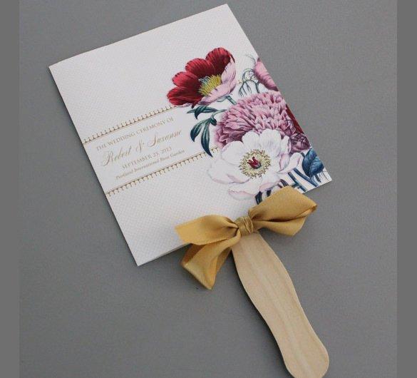 wedding program templates free printable