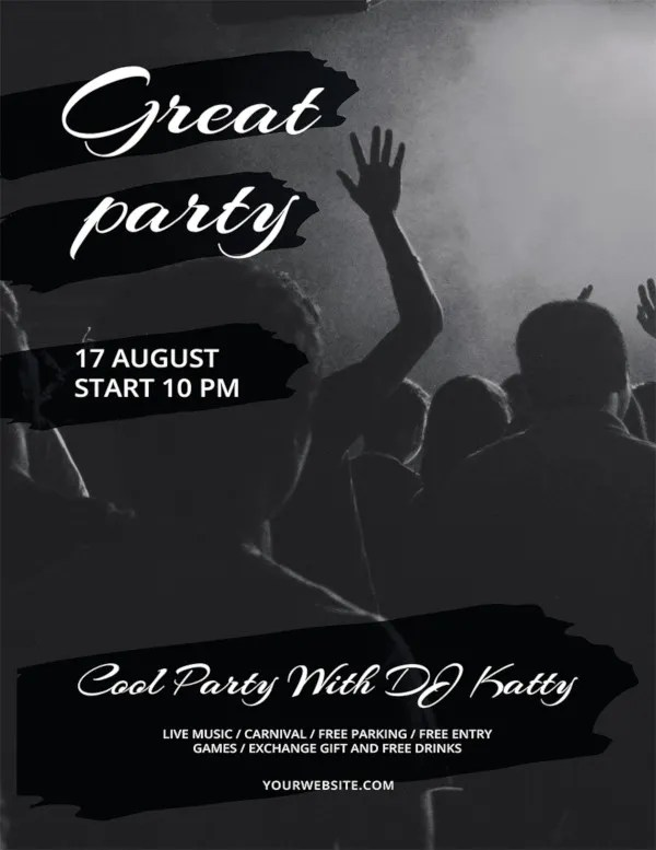 61+ Party Flyer Templates - PSD, EPS, AI, Word Free  Premium