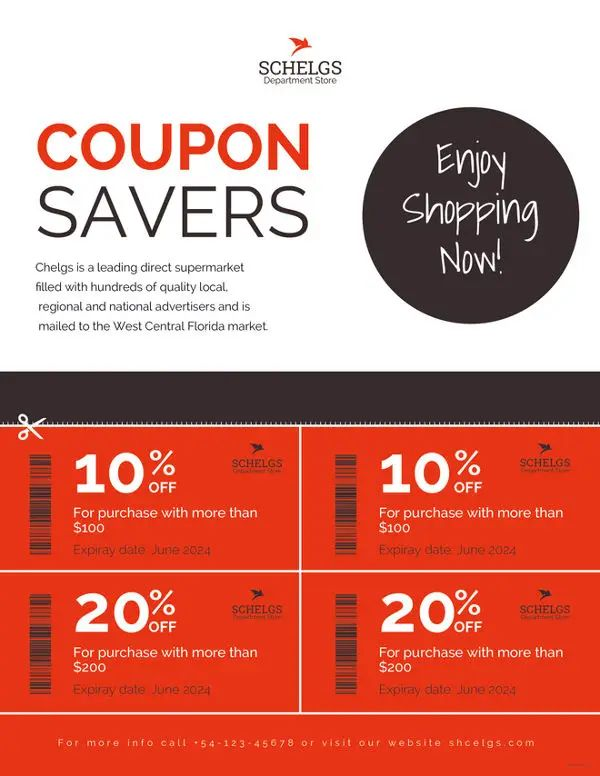 coupon format template