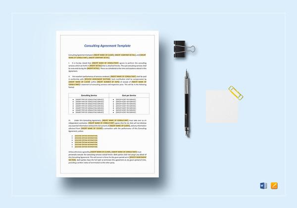 23+ Consultant Agreement Templates- Word, Docs Free  Premium