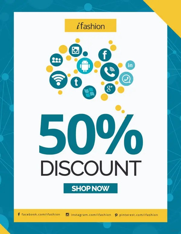 flyer discount - Patrofiveloclub - coupon flyer template
