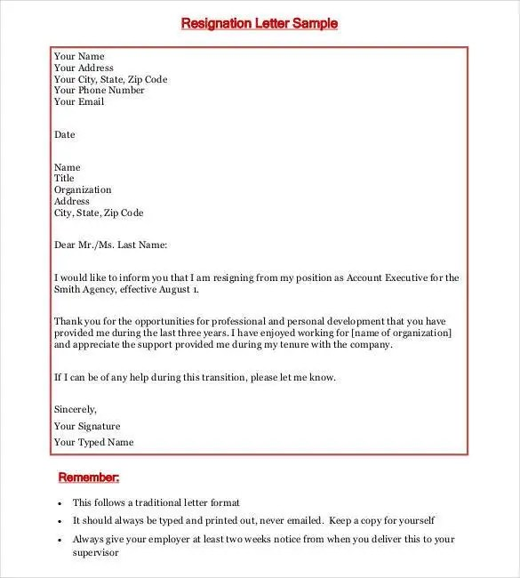 Job Resignation Letter Format In Kannada - Letter Idea 2018 - resignation letters format