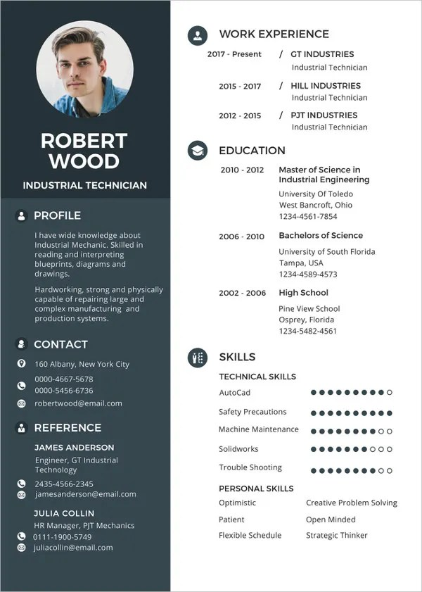 Professional Templates 37+ Resume Template - Word, Excel, Pdf, Psd | Free