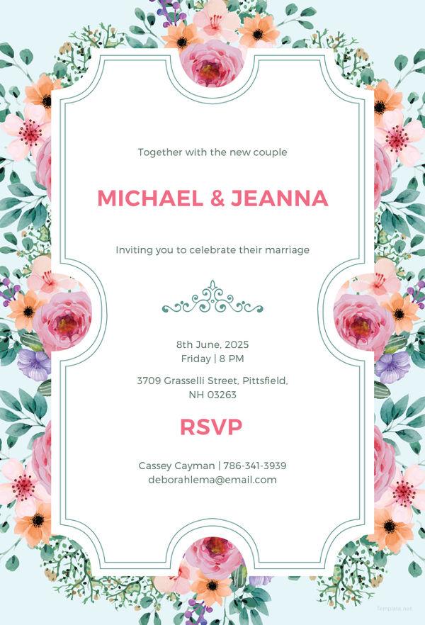 30+ Wedding Invitation Templates \u2013 PSD, AI, Vector EPS Free