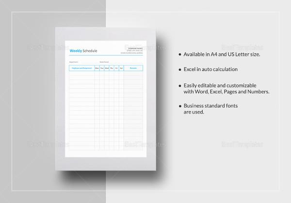 How to Create a Weekly Schedule in Excel \u2013 Tutorial Free  Premium