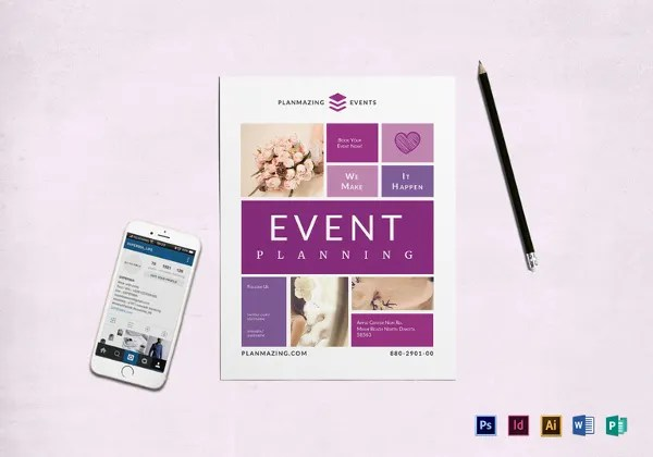 24+ Event Planning Flyer Template - Free PSD, AI, EPS Format