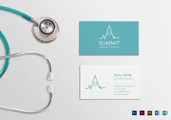20+ Medical Business Cards - Free PSD, AI, Vector, EPS Format - medical business card templates