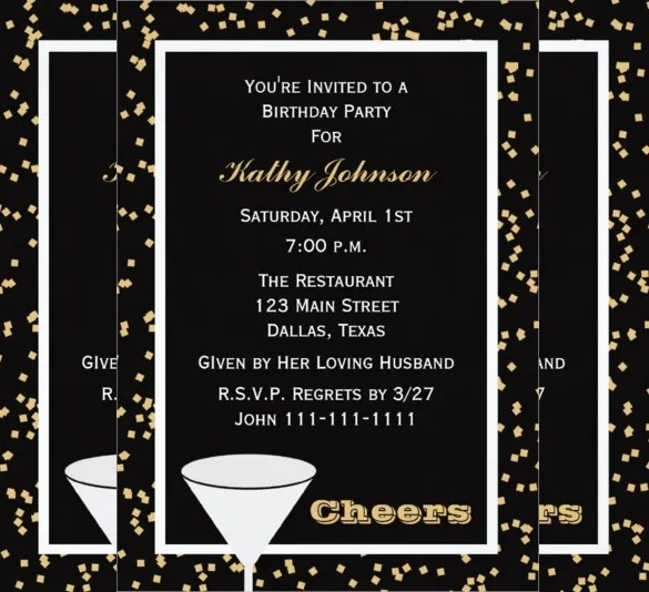 30+ Adult Birthday Invitation Templates u2013 Free Sample, Example - invitations samples for birthday