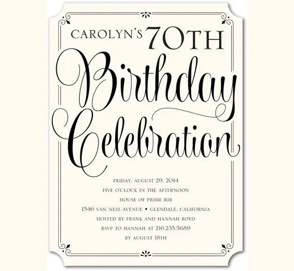 38+ Adult Birthday Invitation Templates - Free Sample, Example