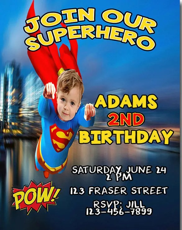 21+ SuperHero Birthday Invitations - PSD, Vector EPS, AI, Word