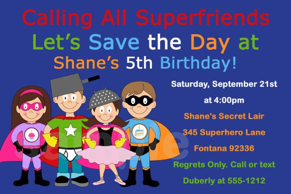 18+ SuperHero Birthday Invitations - Free PSD, Vector EPS, AI