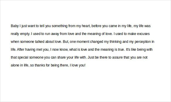 Love Letters for Her \u2013 15+ Free Word, PDF Documents Download Free - love letter template word