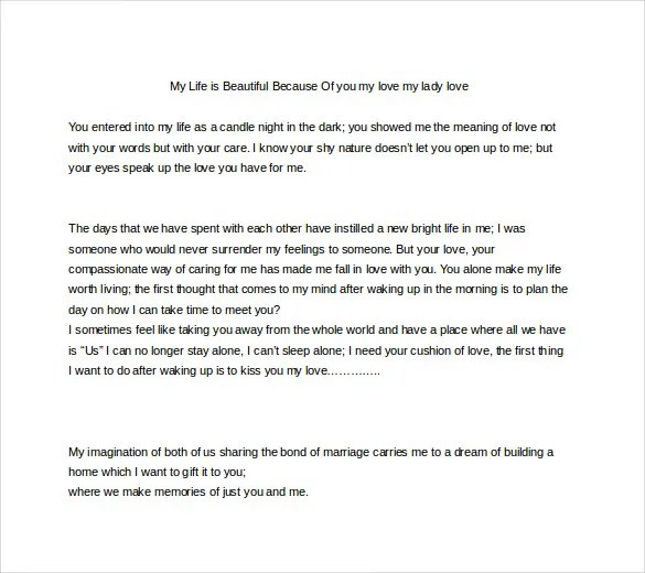 9+ Love Letters for Her - DOC, PDF Free  Premium Templates