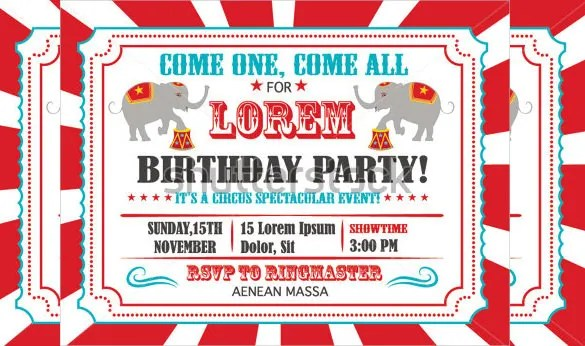 36+ Carnival Birthday Invitation Templates - Free Sample, Example - free carnival sign template