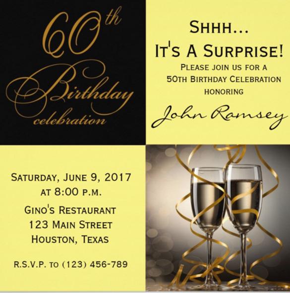 28+ 60th Birthday Invitation Templates - PSD, Vector EPS, AI Free