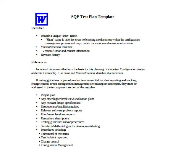 sample test strategy document template - sample test plan test plan template example template