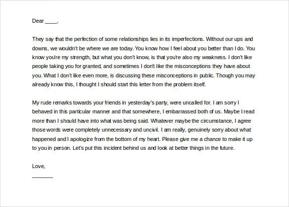 Love Letter to Boyfriend \u2013 9+ Free Word, PDF Documents Download - love letter to boyfriend