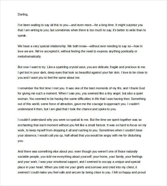 12+ Love Letter Templates to Girlfriend - PDF, DOC Free  Premium