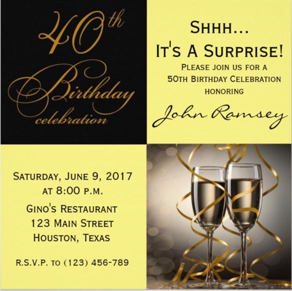 40th birthday invitation templates free download - Funfpandroid