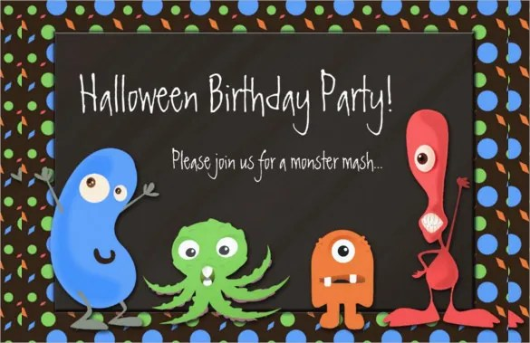 30 Halloween Birthday Invitation Templates Free Sample