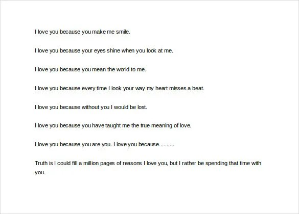 Love Letter To My Husband \u2013 11+ Free Word, PDF Documents Download