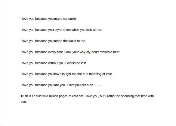 10+ Love Letter To My Husband - DOC, PDF Free  Premium Templates