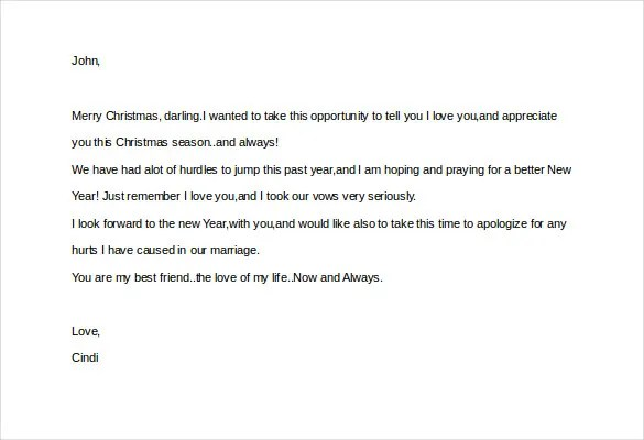 12+ Love Letter Templates to My Husband \u2013 Free Sample, Example