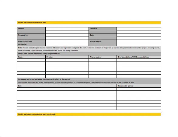 13+ Health and Safety Plan Templates - Free Sample, Example, Format