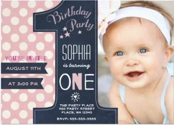 36+ First Birthday Invitations - PSD, Vector EPS, AI, Word Free
